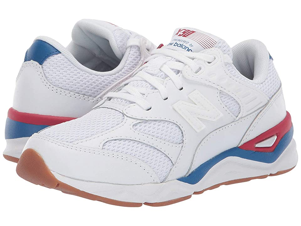 New Balance Kids PSX90Rv1 (Little Kid) (White/Chilli Pepper) Boys Shoes