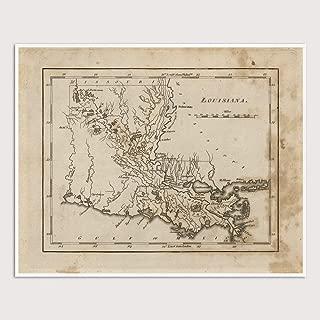 Old Louisiana Map Art Print, 1816, Archival Reproduction, Unframed