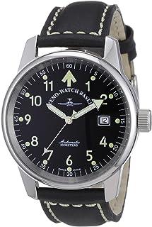 Zeno Watch Basel - 6554RA-a1 - Reloj analógico automático Unisex con Correa de Piel, Color Negro