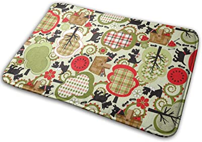 """Scottie Dog Picnic Day_29167 Doormat Entrance Mat Floor Mat Rug Indoor/Outdoor/Front Door/Bathroom Mats Rubber Non Slip 23.6"""" X 15.8"""""""