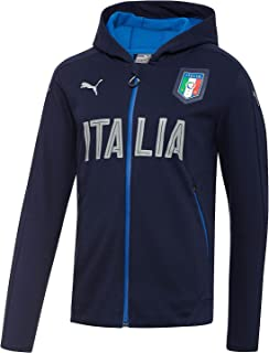 Men's FIGC Italia Casual Performance Zip-Front Jacket