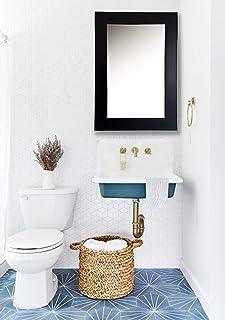 "AG Crafts™ Plan Black Wall Mirror-12 X18 (2"") (Black)"