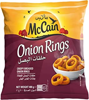 McCain Onion Rings Crispy Breaded 400Gm