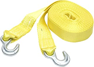 SmartStraps 30' Tow Strap with Hooks, Yellow– 9,000lb Break Strength, 3,000lb Safe Work Load – Recover Stuck Vehicles and ...