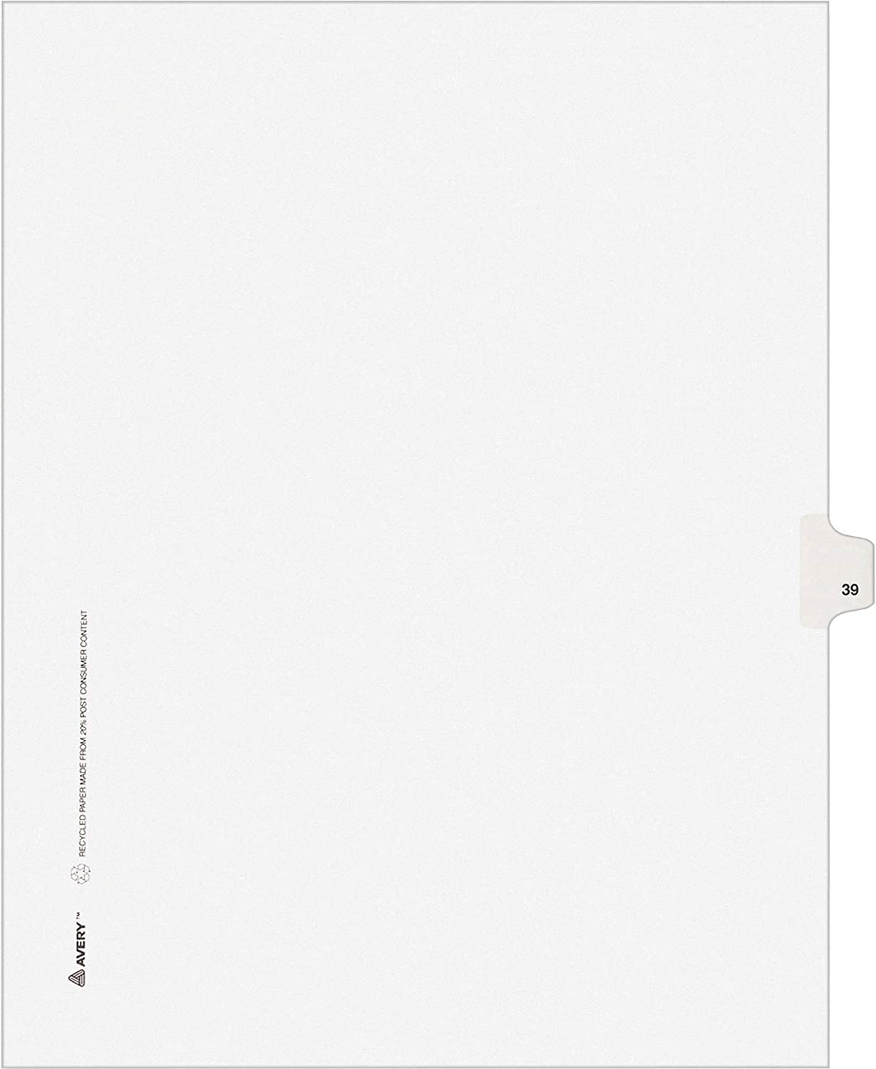 Max Sale price 63% OFF AVERY Legal Dividers Premium Individual Size Tab Letter Titles