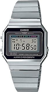 Casio Men's Super Slim A700 Watch Stainless Steel Glass Silver