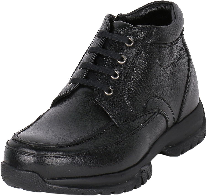 Men Great Outdoor Height Raising Boot Black 2.8  Taller, JW516BL