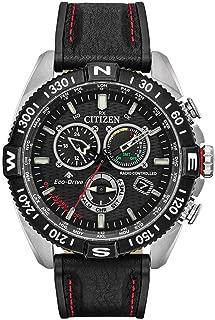 Citizen Promaster Navihawk Black Leather Mens Watch