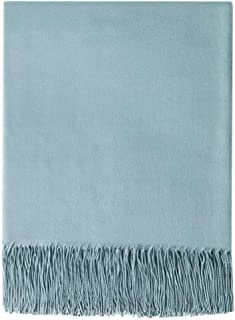 BOURINA Faux Cashmere Throw Blanket Lightweight Soft Thin Cozy for Bed or Sofa Decorative Blankets,50