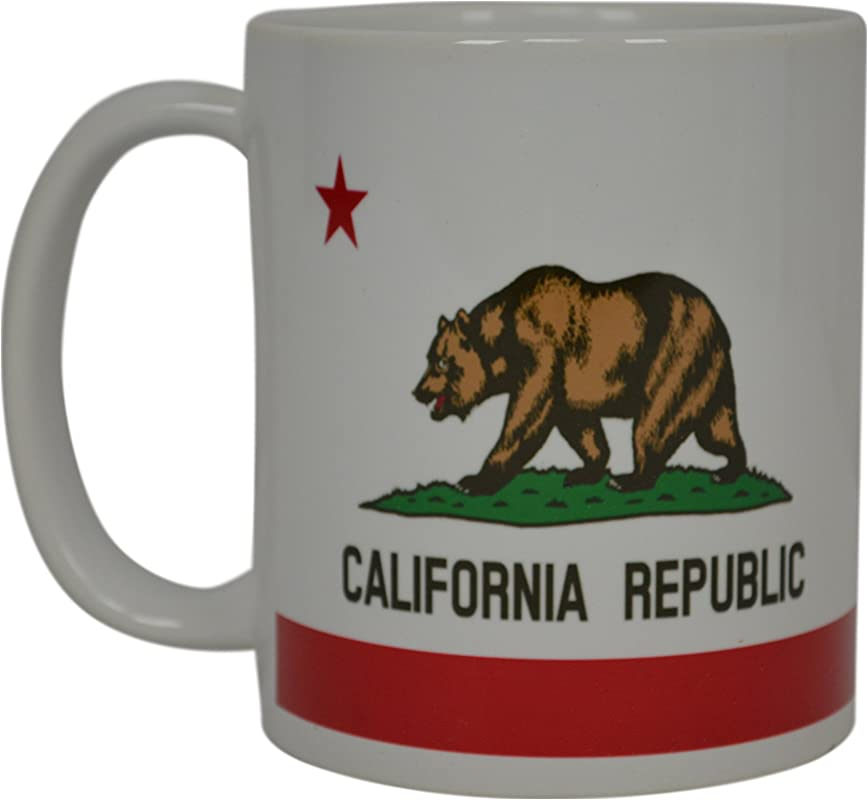 Best Coffee Mug California State Flag Novelty Cup Great Gift Idea For Men Women CA Republic
