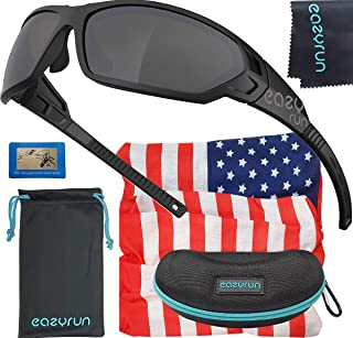 EAZYRUN HD Polarized Sunglasses for Women & Men, with Flexible Lightweight TR90 Frame, UV400...