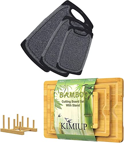 popular KIMIUP online sale Bamboo Cutting Board(Set of 3) and online Plastic Cutting Boards(Set of 3) online