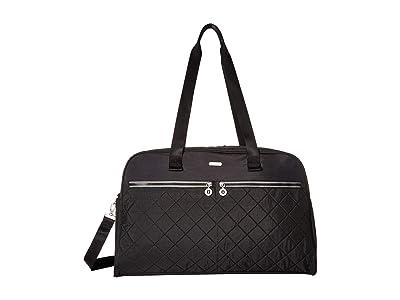 Baggallini Legacy Travel Varsity Duffel (Black/Charcoal) Duffel Bags