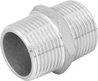 boquilla de manguito 1 pieza de conexi/ón rosca AG x AG 1 1//2 manguito de pezones Racor doble de acero inoxidable V4A boquilla de tac/ón