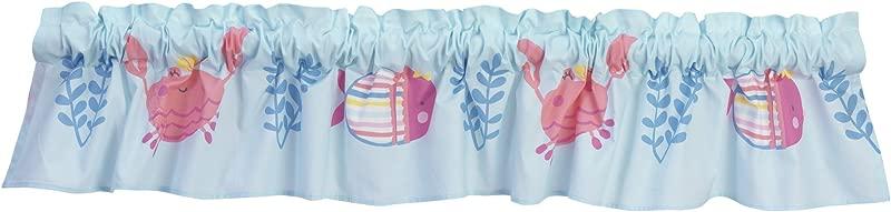 Bedtime Originals Sugar Reef Aquatic Window Valance Pink Blue