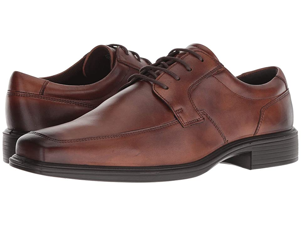 ECCO Minneapolis Apron Tie (Amber Full Grain Leather) Men