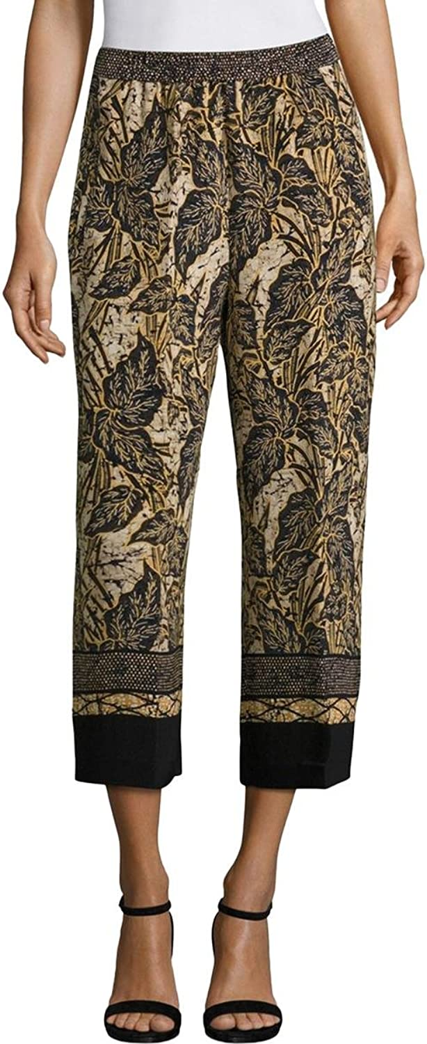 Kobi Halperin Womens Sutton Silk Printed Wide Leg Pants