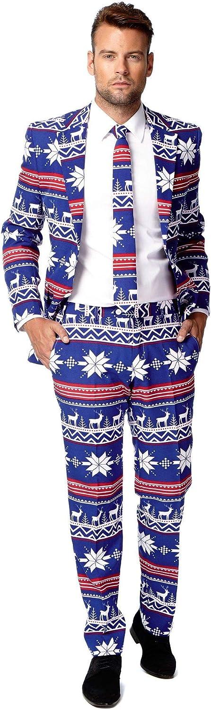 Opposuits The Rudolph, Costume Natalizio Unisex, MultiColoreeee, 46 EU