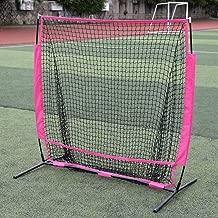 Red de práctica de béisbol y softbol 5x5 pies Red magenta pequeña de béisbol Red de béisbol Red de entrenamiento de pelota al aire libre Red de rebote para golpear, fotografiar, colocar y más
