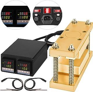 Mophorn Heat Press Plates Kit 3x5 Inch DIY Caged Heating Plates Dual Digital Display Temperature Controller Box