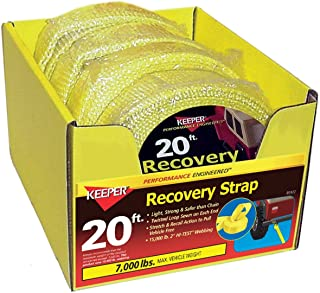 Keeper 89922-10A 20' Vehicle Recovery Tow Strap 4 Count
