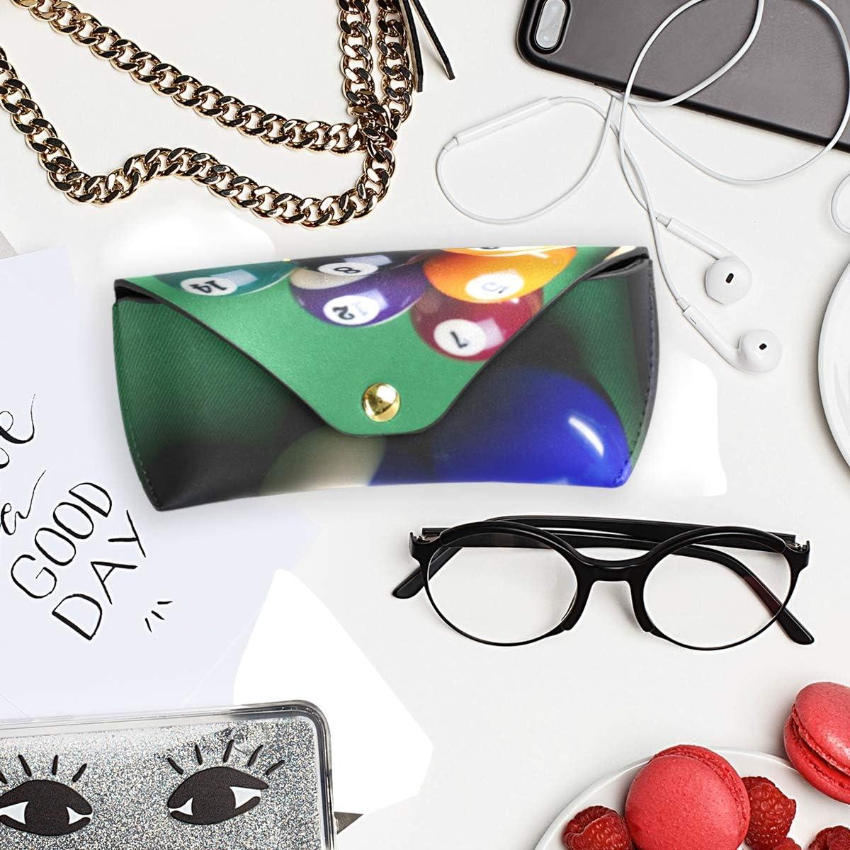 Multiuse Goggles Bag Billiard Balls Portable Sunglasses Case Eyeglasses Pouch Holder PU Leather