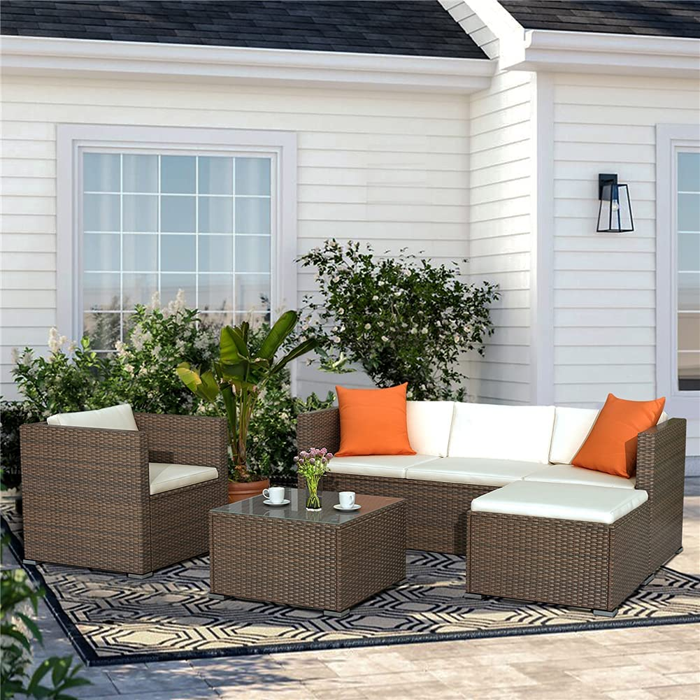 4 Pieces Patio Furniture Set with Over item handling ☆ S Coffee Table Rattan Outdoor Financial sales sale