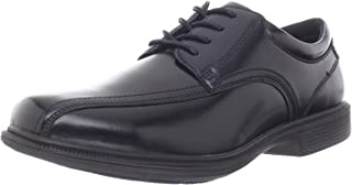 Nunn Bush Men's Baker Street Plain Toe Oxford Lace Up with Kore Slip Resistant Comfort Technology