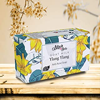 Mirah Belle - Organic Goat Milk, Ylang Ylang Anti Acne Soap Bar - Best for Blemished, Acne Prone, Scarred Skin - Natural a...