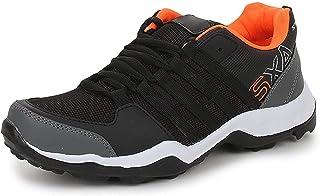 TRASE Parkar Black Orange Boys Running Shoes - 3 UK