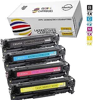 Global Cartridges Compatible Toner Cartridge Set Replacement for HP 125A / CB540A CB541A CB542A CB543A (Bk,Cyan,Magenta,Yellow)