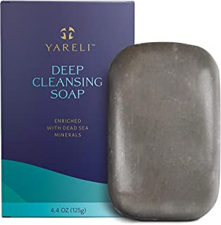 Yareli Deep Cleansing Bar Soap with Dead Sea Minerals for All Skin Types, 4.4oz