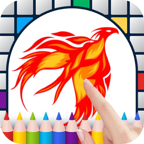 Phoenixes Color by Number - Free Pixel Art Game - Coloring Book Pages - Happy, Creative & Relaxing - Paint & Crayon Palette - Zoom in & Tap to Color - Share Creations with Friends!