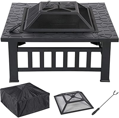 Amazon Com Femor 32 Fire Pit Table Outdoor