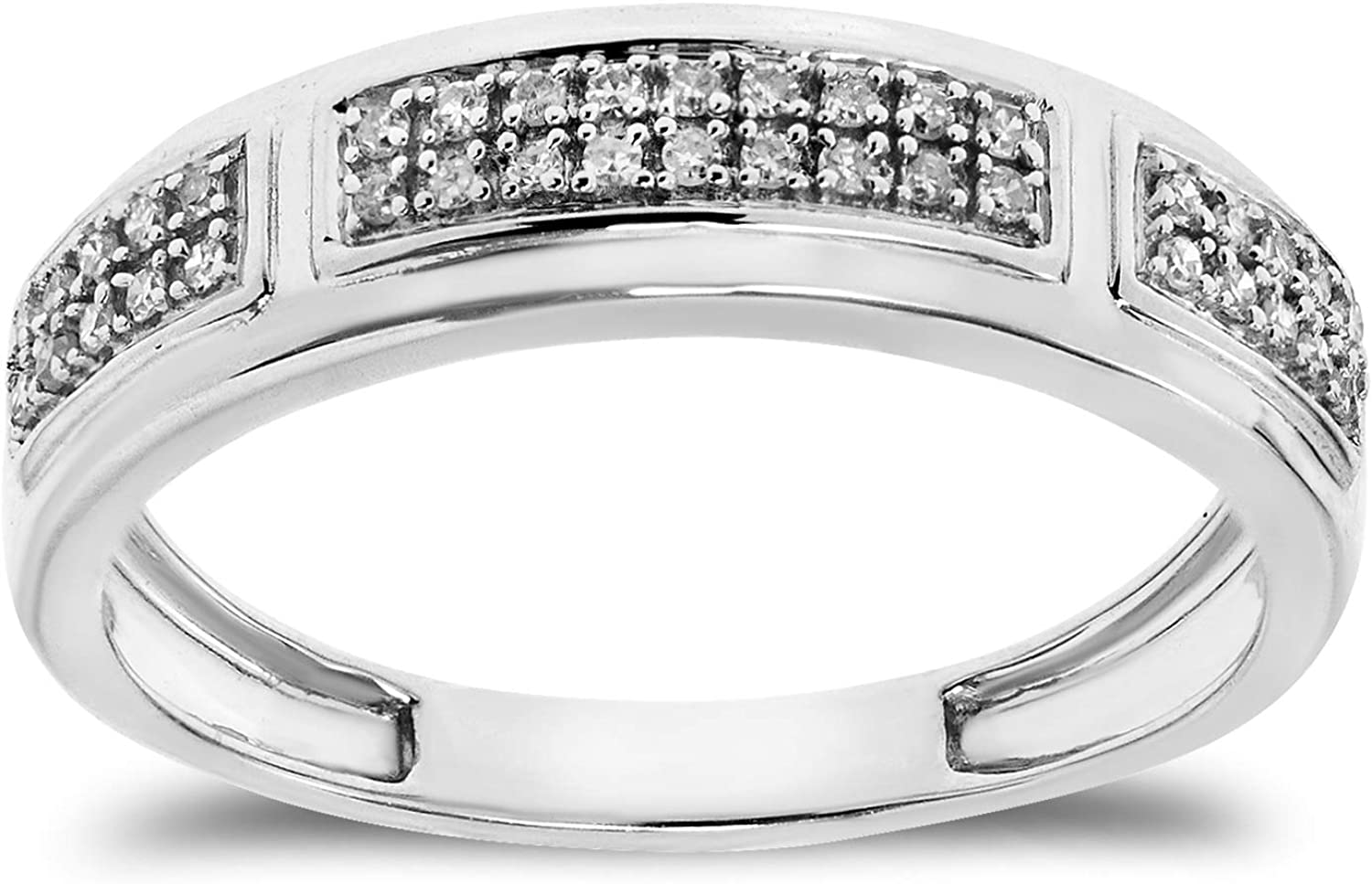 service Buy Jewels 925 Sterling Silver Ring OFFicial store Natural Band Diamond with fo