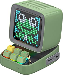 Ditoo Programmable Pixel Art LED Bluetooth Speaker Showing Clock Emoji DIY Design for Home Wedding Party Decoration with W...