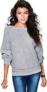 Women Bat Sleeve Sweater Fashion Sweater Knitted Jumpers Jumper Jumper
