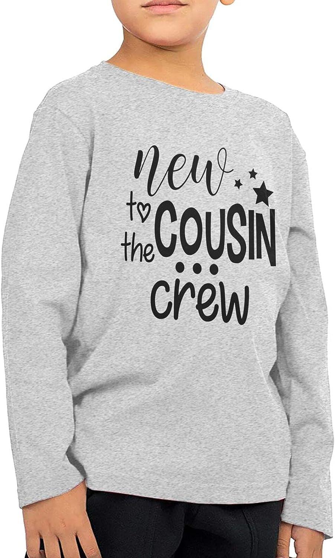 New Cousin Crew Kids Long Sleeve Shirts Cotton Sweatshirt Novelty T-Shirt Top Tees 2-6 Years