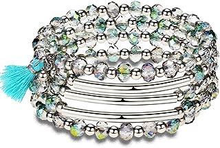 Lateefah Wrap Bracelet for Women Jewelry Fashion Bead Bracelets Bangle Jewelry Swarovski Crystals Bracelet Women Girls