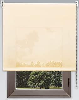 Estor Enrollable Vision Premium Metal. Anchos de 40 a 280cm. Luz e intimidad Durante el Dia. Color Crema. Estores Tipo Visillo A Medida para Ventanas y Puertas