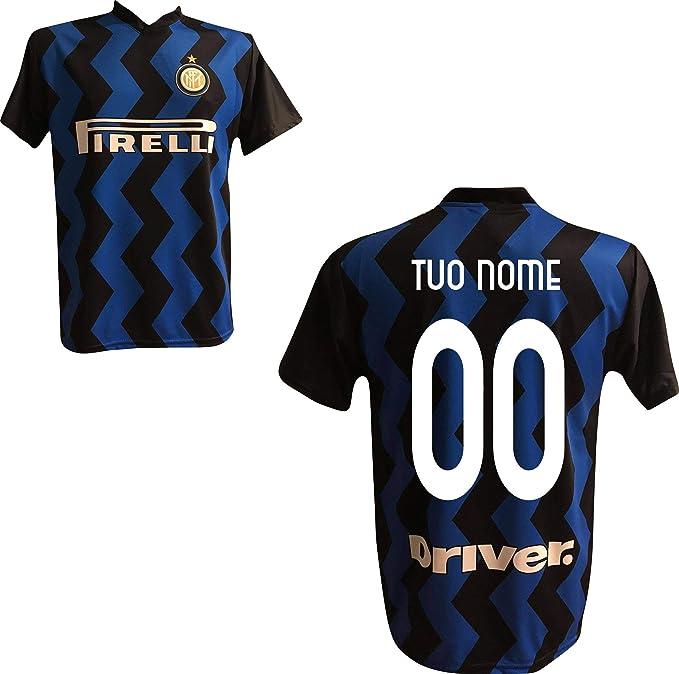FC Inter Maglia Replica Calcio Home Nero Blu Ufficiale Autorizzata Personalizzata Personalizzabile 2020 Eriksen Godin SKRINIAR BARELLA LUKAKU LAUTARO ...