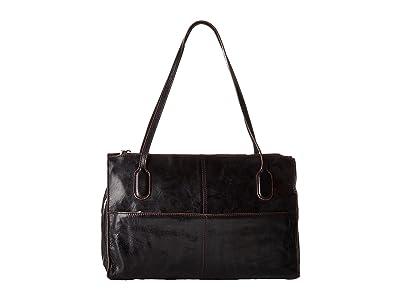 Hobo Friar (Black Vintage Leather) Shoulder Handbags