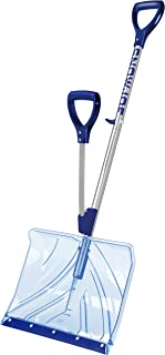 Snow Joe Shovelution SJ-SHLV02 18-IN Strain-Reducing Indestructible Shatter Resistant Polycarbonate Snow Shovel w/Spring Assisted Handle