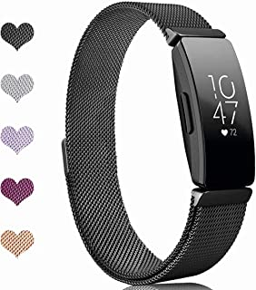 Sport Watch Wristband for Fitbit Inspire Bands and Fitbit Inspire HR Band Stainless Steel Metal Strap Bracelet Loop Replac...