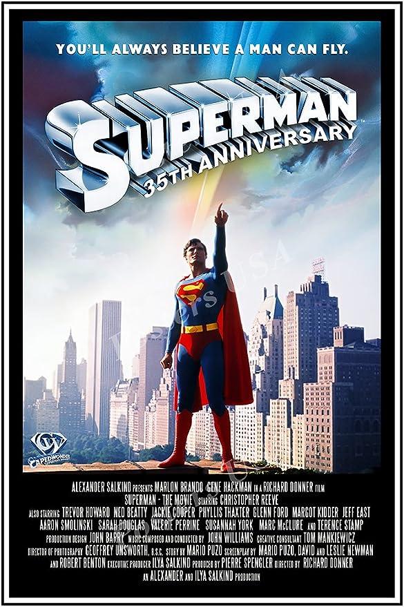 Amazon Com Posters Usa Dc Superman 1978 Movie Poster Glossy Finish Fil237 24 X 36 61cm X 91 5cm Posters Prints