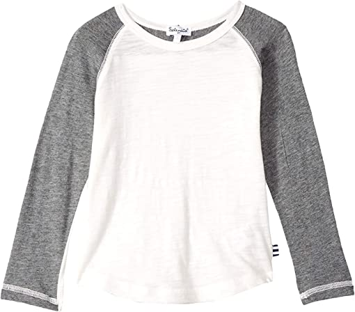 Off-White/Dark Heather Grey
