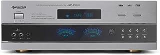 Auna AMP-5100 Amplificador 5.1 Receptor • 1200 W • Sonido Surround • Mando a Distancia • Radio FM/Am • 2 entradas micrófono • Ecualizador de Micro • controlable EQ Master - Efecto Eco • Gris