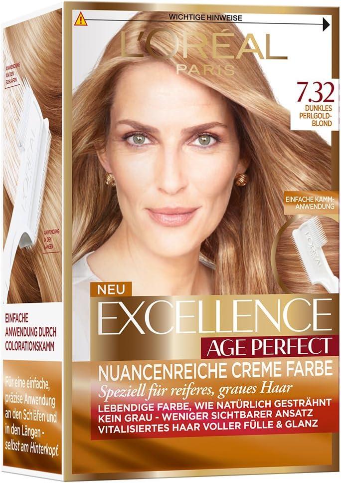 LOréal Paris excelencia Age Perfect coloración, 7,32 dunkles ...