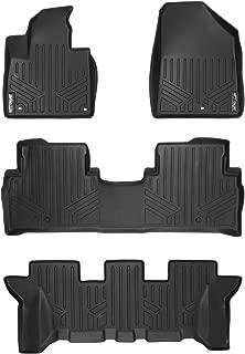 SMARTLINER Floor Mats 3 Row Liner Set Black for 2015-2018 Kia Sedona 7 Passenger Model Only