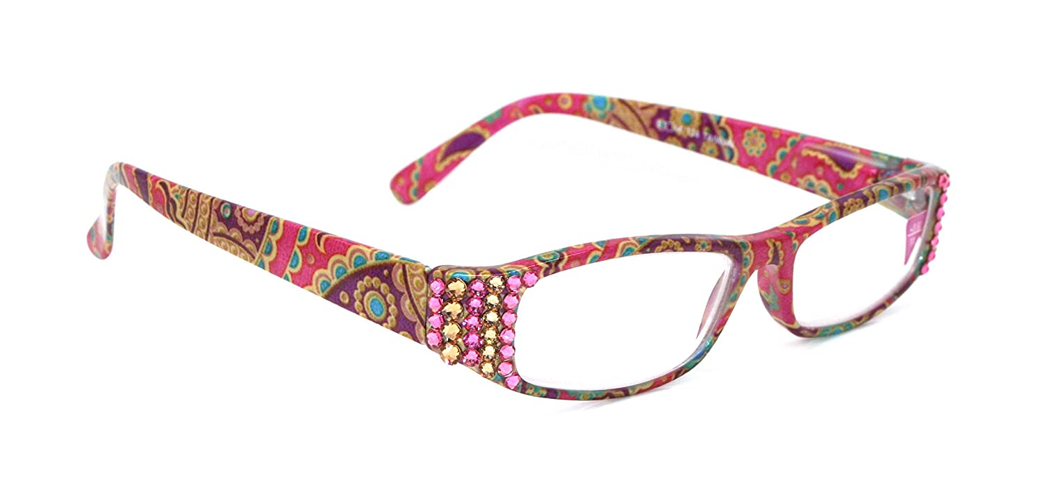 Florence Super-cheap Bling Women Reading Glasses Adorned and Rose Ranking TOP7 Ligh with